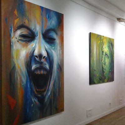 "Exhibition ""Faces in motion"" in Paris, France"