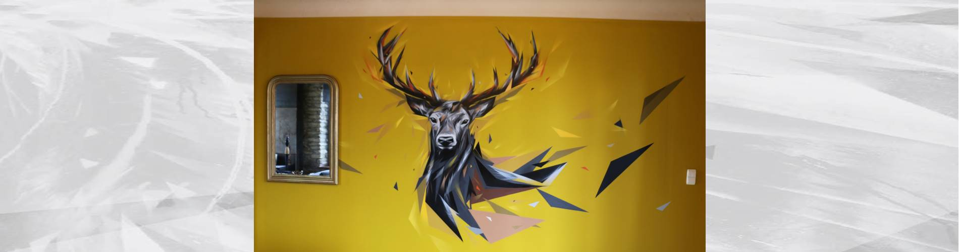 street art arlon deer