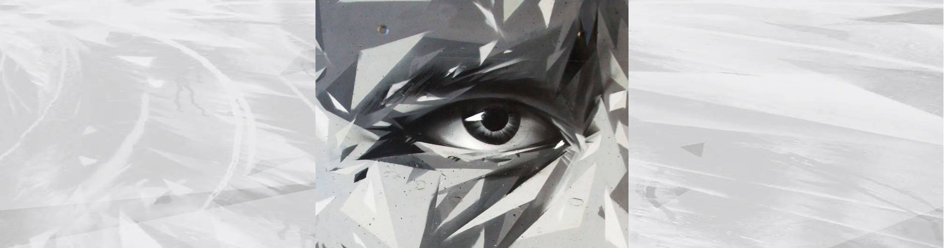 black white street art portrait